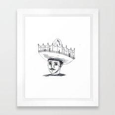 Sombrero Framed Art Print