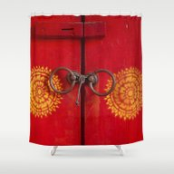 Temple Door Shower Curtain