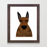 Dog - German Shepherd 2 Framed Art Print