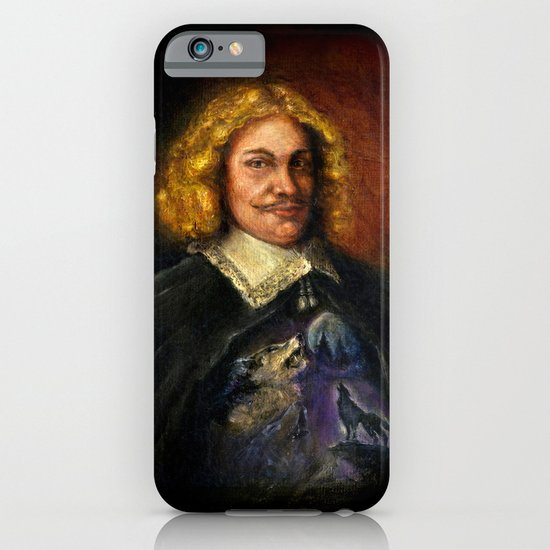 Portrait of a Sweet Dude Rockin a Sweeter than Hell Wolf Shirt  iPhone & iPod Case