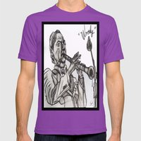 WOODY Mens Fitted Tee Ultraviolet SMALL