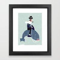 A sea rider Framed Art Print