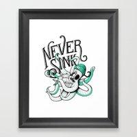 Never Sink Framed Art Print