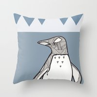 lil penguin Throw Pillow