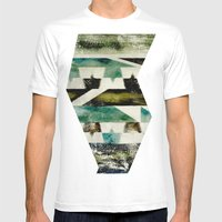 Morocco Meets Navajo Mens Fitted Tee White SMALL