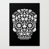 Day Of The Dead Skull No… Canvas Print