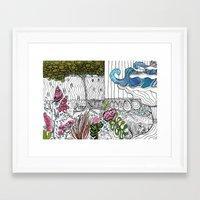 The Corner Garden Framed Art Print