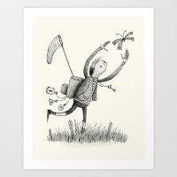 'Moth Man' Art Print