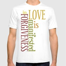 Love is Forgiveness 2 White Mens Fitted Tee SMALL