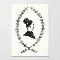 Lady Lapel Canvas Print
