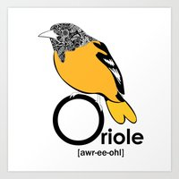 O Is For Oriole Art Print