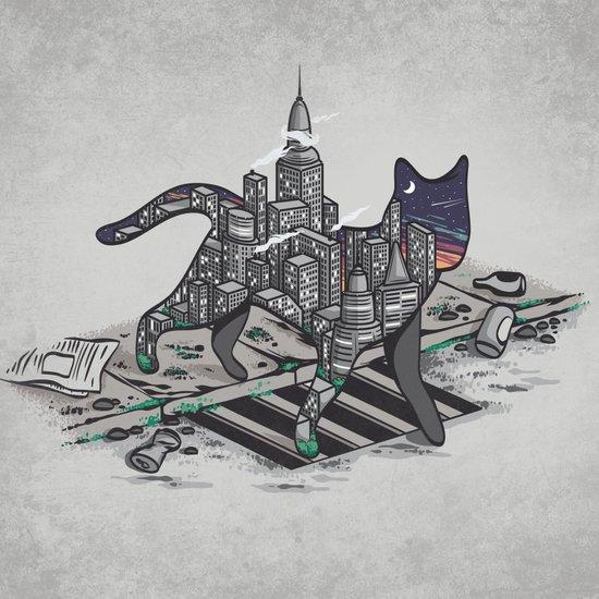 City Cat Art Print