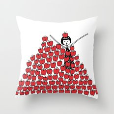 Eloise went overboard on the apple picking Throw Pillow