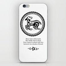 Mary had a little lamb iPhone & iPod Skin