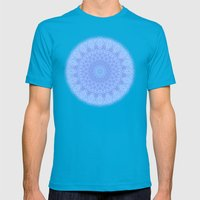Blue Mens Fitted Tee Teal SMALL