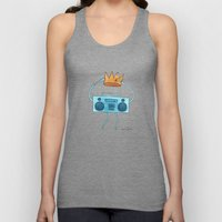 boombox holding a paper crown Unisex Tank Top