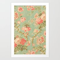 Vintage Flowers - for iphone Art Print