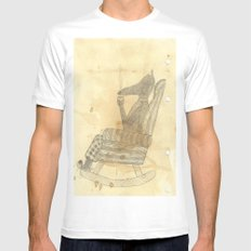 Time to relax White SMALL Mens Fitted Tee