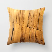 Golden Shingles  Throw Pillow