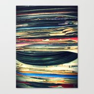 Canvas Print featuring Put Your Records On by Bianca Green