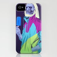 iPhone 4s & iPhone 4 Cases featuring GAME OF THRONES 80/90s ERA CHARACTERS - White Walker by Mike Wrobel