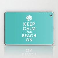 Keep Calm and Beach On Laptop & iPad Skin