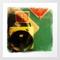 Green Bolt Art Print