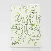 Green Is In Bloom Stationery Cards