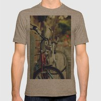 The street is quiet Mens Fitted Tee Tri-Coffee SMALL