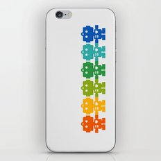 Rainbow Robots Holding Hands iPhone & iPod Skin