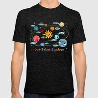 Our Solar System Mens Fitted Tee Tri-Black SMALL