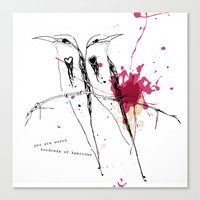 you are worth hundreds of sparrows Canvas Print