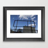 Untitled, Empty Sign Fra… Framed Art Print