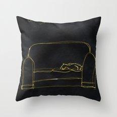 Not Your Cat Throw Pillow