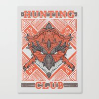 Hunting Club: Rathalos Canvas Print