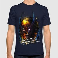 The Wolverine Mens Fitted Tee Navy SMALL