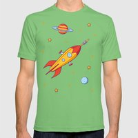 Spaceship! Mens Fitted Tee Grass SMALL