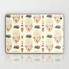 Books & Dream-catchers Boho Pattern (cream) Laptop & iPad Skin
