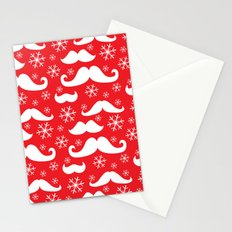 Mustaches and Snowflakes Stationery Cards