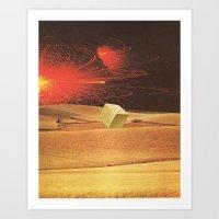 wheat squared Art Print