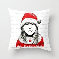 Snow-maiden Throw Pillow