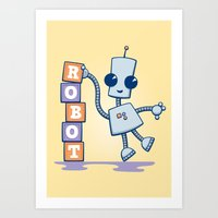 Ned's Blocks Art Print