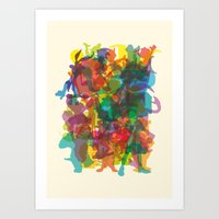 50 Famous Characters (so… Art Print