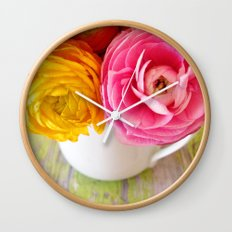 happy spring Wall Clock