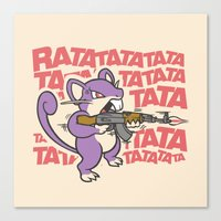 Ratatatata... Canvas Print