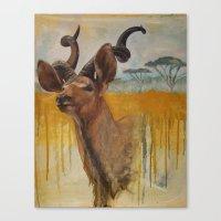 Greater Kudu (Tragelaphu… Canvas Print