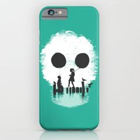 iPhone Cases featuring Bye Bye Apocalypse (green ver) by Budi Kwan