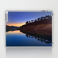 Forest reflection. Blue hour Laptop & iPad Skin