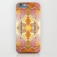 Dahlias and Orchids flowers in reflect iPhone 6 Slim Case