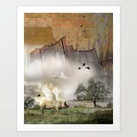 Pig With Wings Art Print